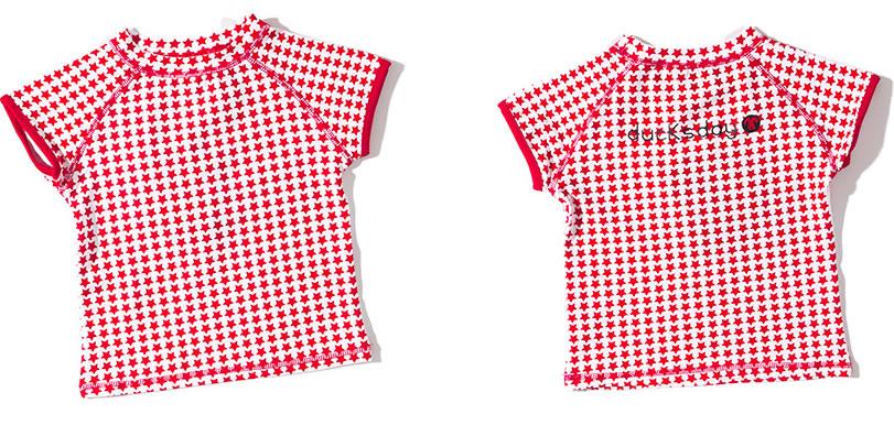 koszulka plażowa dla dziewczynki z krótkim rękawem Ducksday, wzór Stars